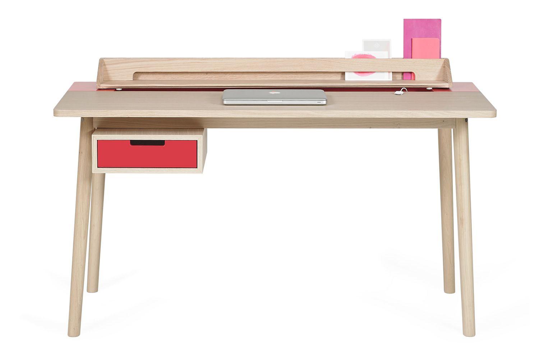 Honor scrivania di design in legno e mdf dotata di for Scrivania design outlet