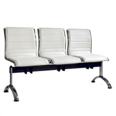 Comet Bench - Metal bench for waiting room with padded seats in fabric or imitation leather, with 2, 3 or 4 seats, different colours available