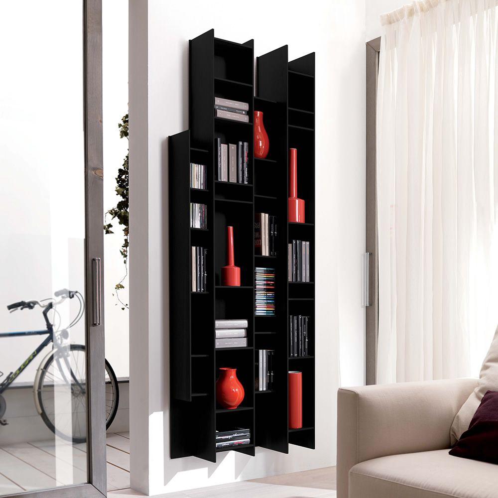 byblos biblioth que murale modulaire en bois sediarreda. Black Bedroom Furniture Sets. Home Design Ideas