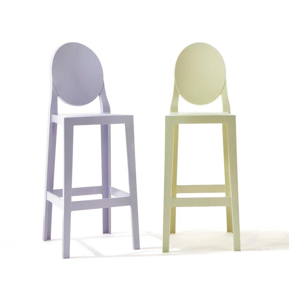 one more kartell design hocker aus polycarbonat sitzh he 65 oder 75 cm auch f r garten. Black Bedroom Furniture Sets. Home Design Ideas