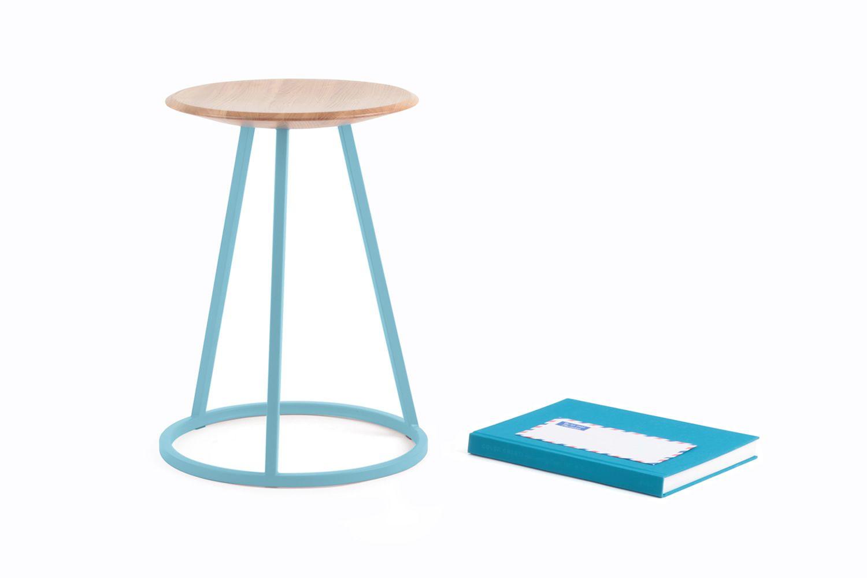 petit gustave tabouret en m tal et bois hauteur assise. Black Bedroom Furniture Sets. Home Design Ideas