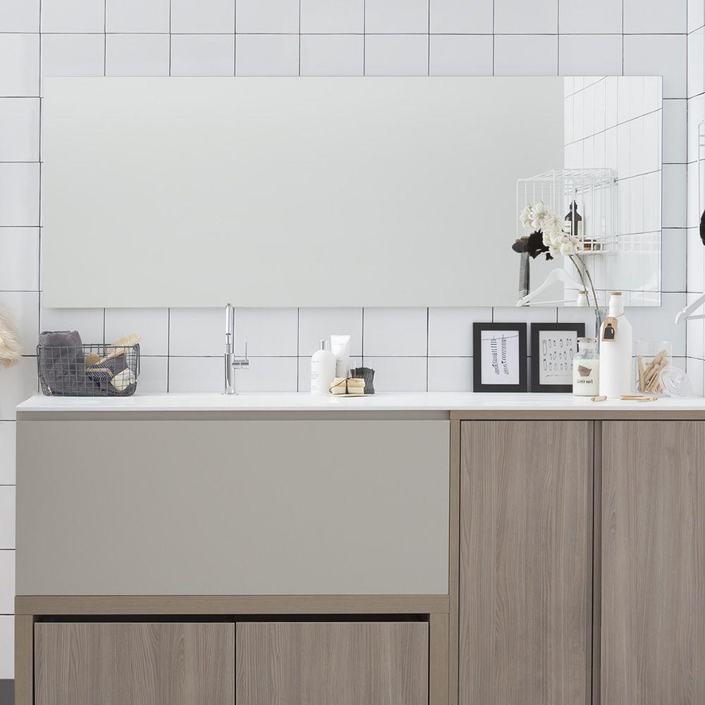 Filo Lucido | Specchio rettangolare di larghezza 195 cm