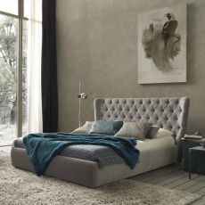 Selene - Padded double bed, several coverings available, also with storage box