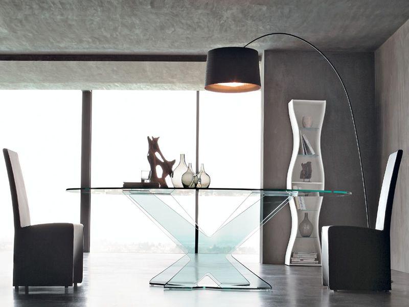 Ghost 8058 designer tisch tonin casa aus glas for Designer tisch glas