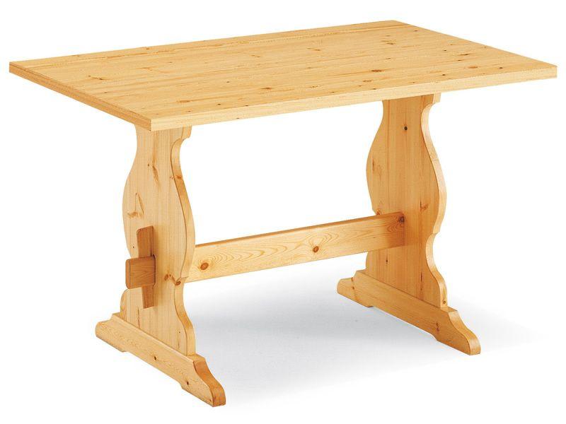 fratino fisso: table en bois de pin, en différentes dimensions et
