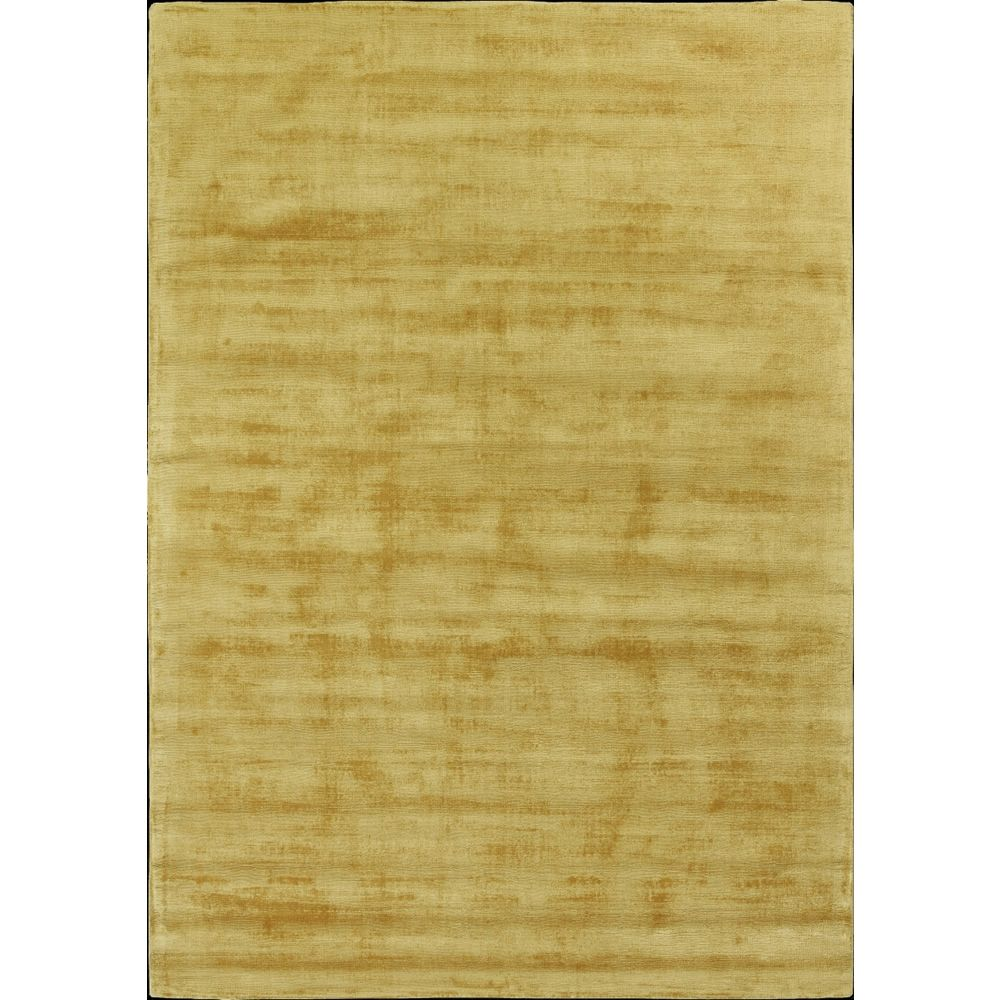 trendy shiny new alfombra moderna en seda vegetal color amarillo mostaza - Alfombra Moderna