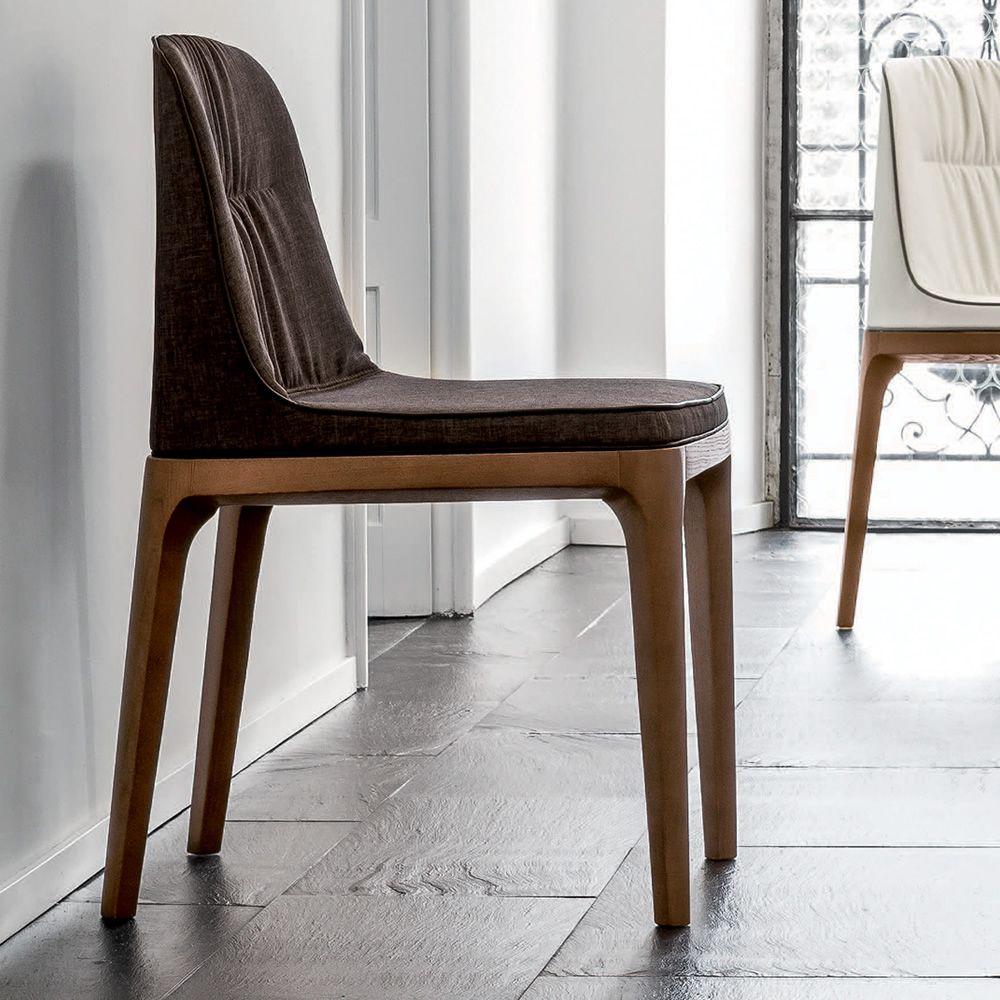 mivida 7212 stuhl tonin casa aus holz mit leder oder kunstleder bezogen sediarreda. Black Bedroom Furniture Sets. Home Design Ideas