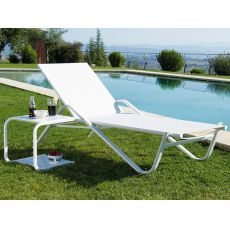 Holly 195i1 - Emu sunbed made of metal, for garden, stackable, several colours