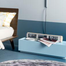 Super-N - Table de chevet Dall'Agnese en bois, disponible en différentes finitions et dimensions, un tiroir