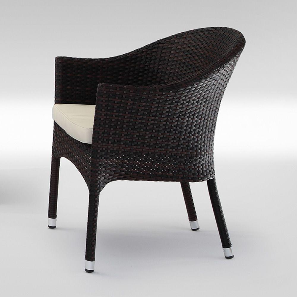 tt4 fauteuil de jardin empilable avec coussin structure en aluminium rev tement effet. Black Bedroom Furniture Sets. Home Design Ideas