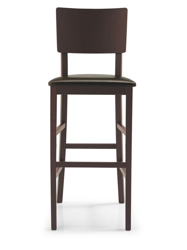 cb1224 espresso pour bars et restaurants tabouret haut en bois assise en simili cuir hauteur. Black Bedroom Furniture Sets. Home Design Ideas
