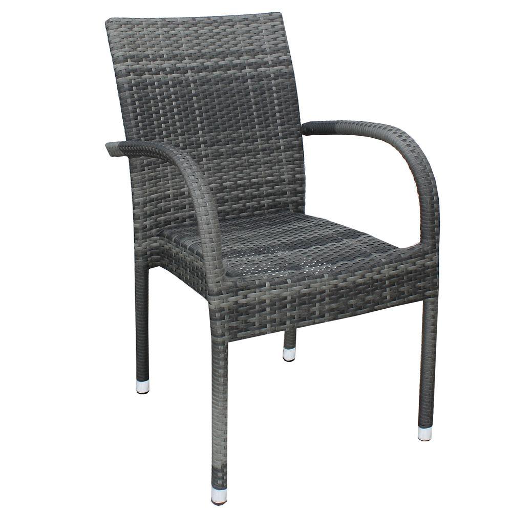 A81e sedia in alluminio e simil rattan con braccioli ideale per l 39 esterno impilabile in - Sedia in rattan ...