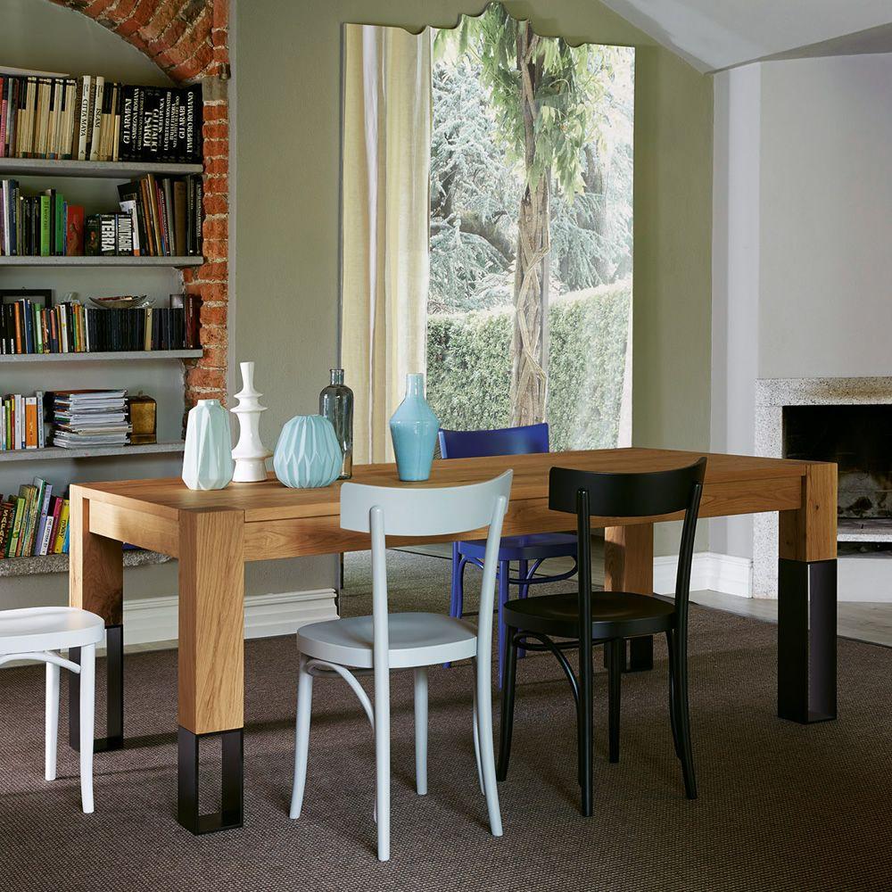 Acqua alta tavolo in legno colico design con gambe in for Tavolo legno metallo