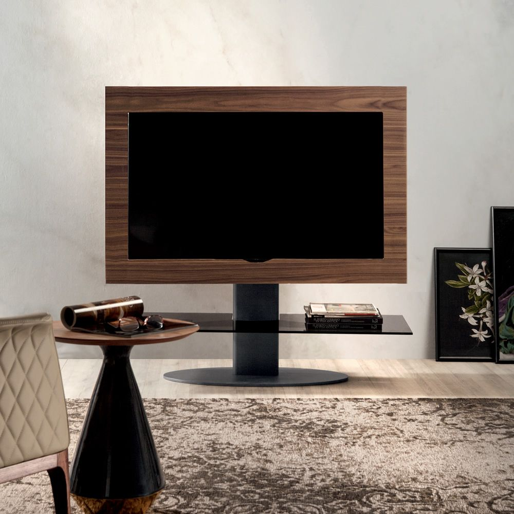 cortes 7095 meuble porte tv tonin casa en bois et m tal avec tag re en verre sediarreda. Black Bedroom Furniture Sets. Home Design Ideas