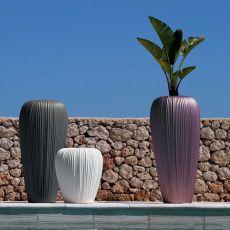 Skin - Vaso in tecnopolimero, diversi colori e misure disponibili, anche per esterno e con illuminazione