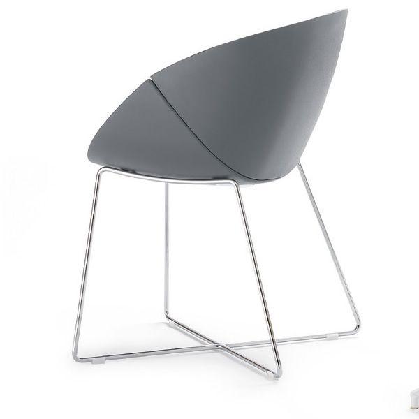 coquille t chaise domitalia en m tal et polyur thane diff rentes couleurs sediarreda. Black Bedroom Furniture Sets. Home Design Ideas