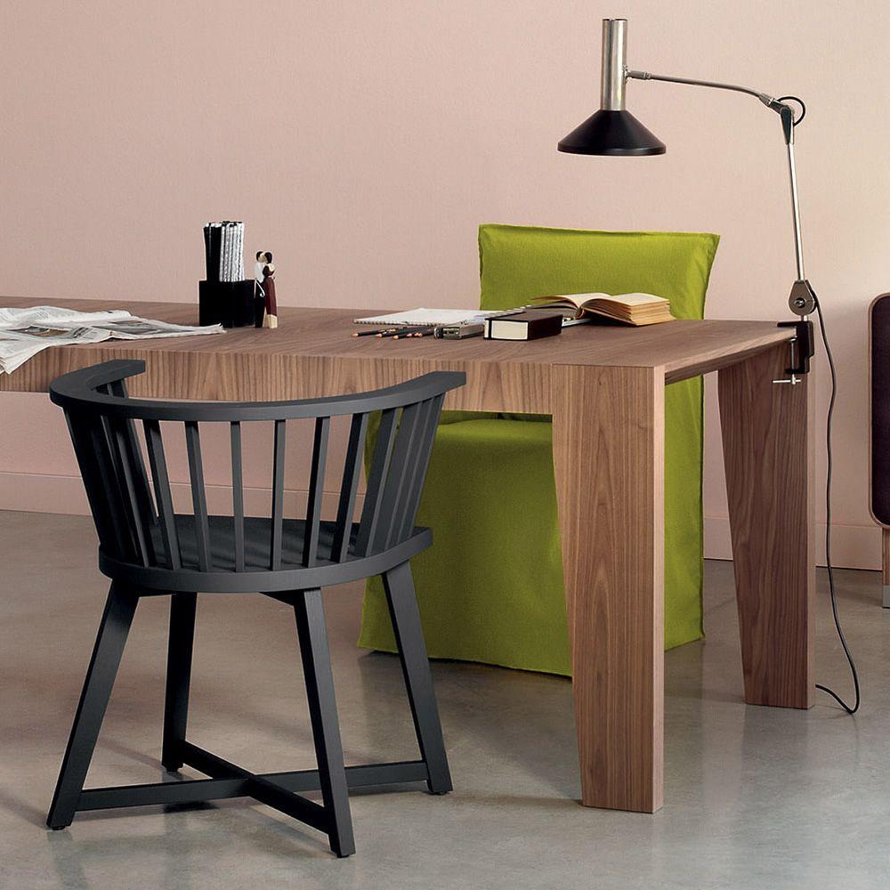 Gray 24 sedia gervasoni con braccioli in legno sediarreda for Ufficio stile artigiano