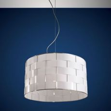 FA3136S - Lámpara de suspensión en metal y policarbonato, en distintas medidas
