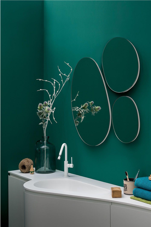 Drop composizione di specchi rotondi disponibile anche - Specchi bagno con luce ...