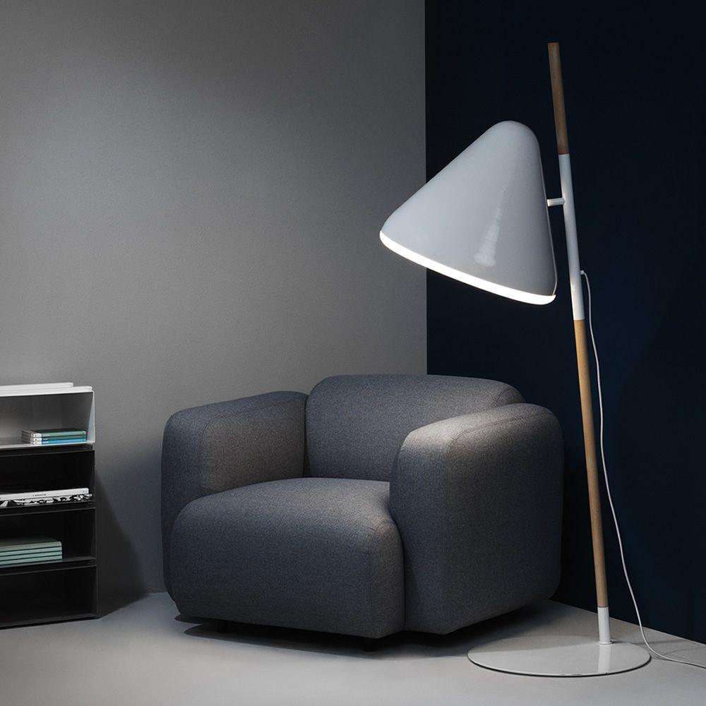 Hello: Normann Copenhagen floor lamp made of wood and steel ...