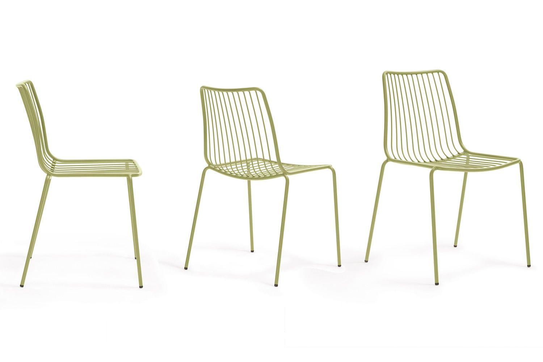 Nolita stuhl pedrali aus metall stapelbar f r den for Stuhl metall