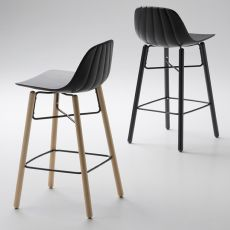 Babah Wood SG - Stool Chairs&More, in wood and polyurethane, available in different colours and seat heights