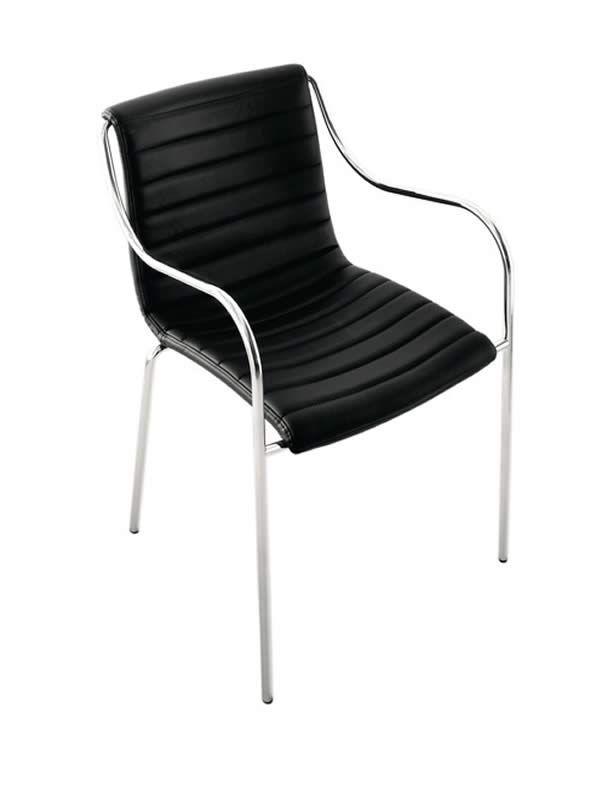 zelig p ts stapelstuhl midj aus metall sitz mit leder kunstleder oder stoff bezogen in. Black Bedroom Furniture Sets. Home Design Ideas