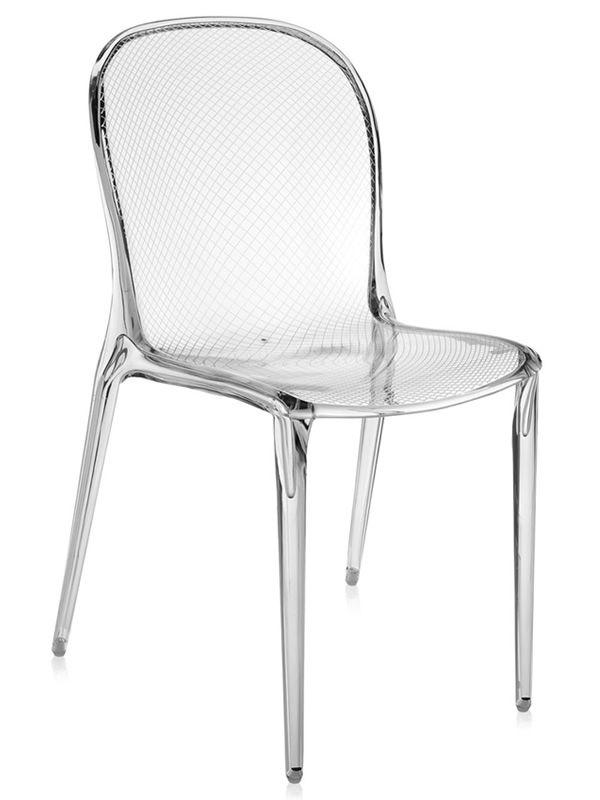 Thalya chaise kartell de design en polycarbonate empilable pour ext rieur aussi sediarreda - Chaise kartell transparente ...