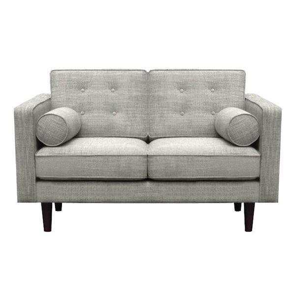 n101 sofa ethnicraft aus holz gepolstert und mit stoffbezug in verschiedenen farben und. Black Bedroom Furniture Sets. Home Design Ideas