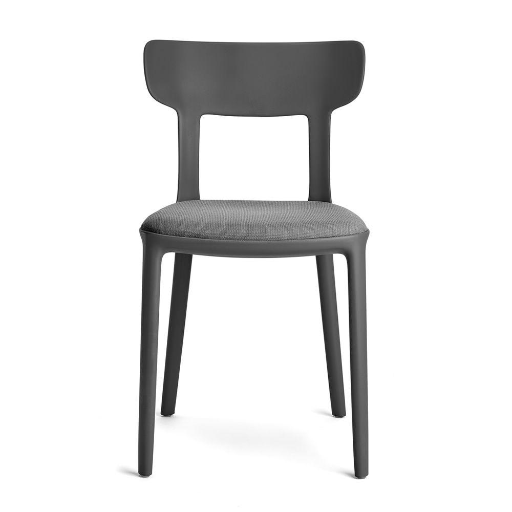 canova chaise infiniti en polypropyl ne assise avec rev tement empilable aussi pour le. Black Bedroom Furniture Sets. Home Design Ideas
