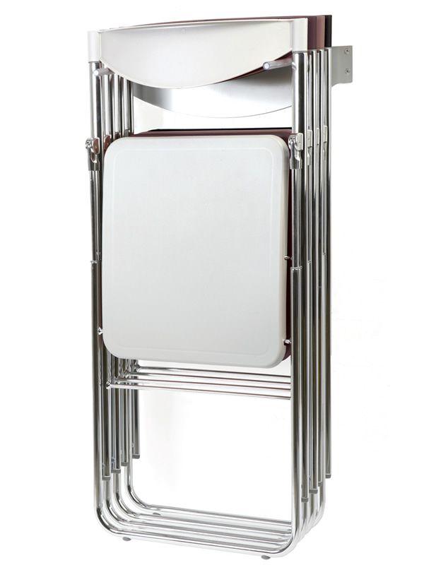 Nobys sedia pieghevole moderna in metallo e for Tavoli pieghevoli con sedie