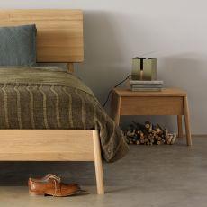 Air-N - Table de chevet Ethnicraft en bois, avec tiroir.
