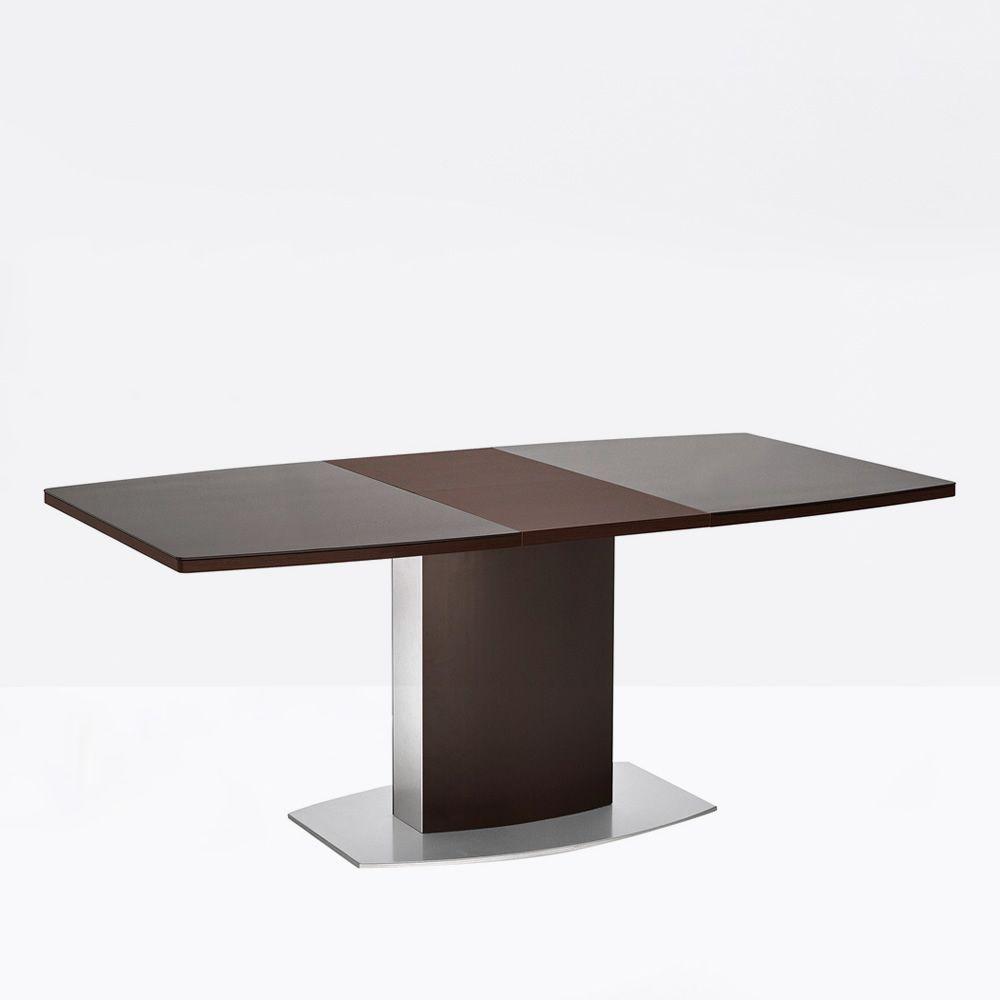cb4726 sydney table rallonge connubia calligaris en m tal avec plateau en verre 140 x 100 cm. Black Bedroom Furniture Sets. Home Design Ideas