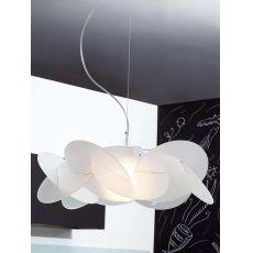 Bea - Lampe à suspension, paralume en méthacylate de différentes couleurs