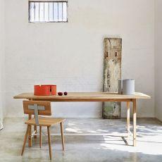 Squeeze - Tavolo Universo Positivo in legno, 200 x 90 cm