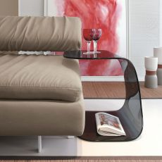 Beside 8167 - Tonin Casa coffee table - nightstand made of glass, different finishes available