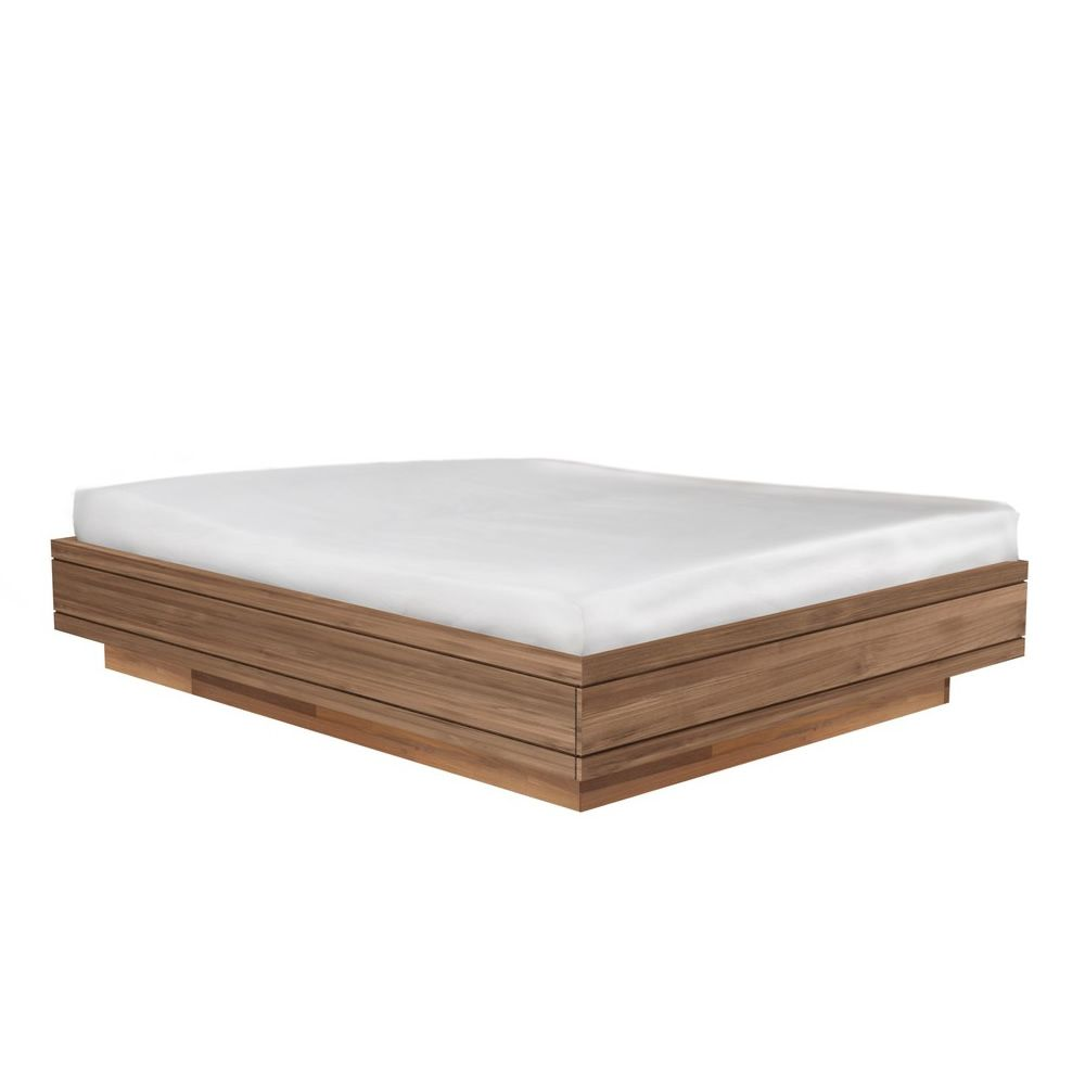 Burger cama matrimonial ethnicraft con estructura de teca - Estructuras de cama ...