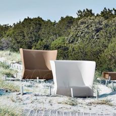 Nova-D - Design sofa made of technopolymer, different colours available, also with light system, for outdoor