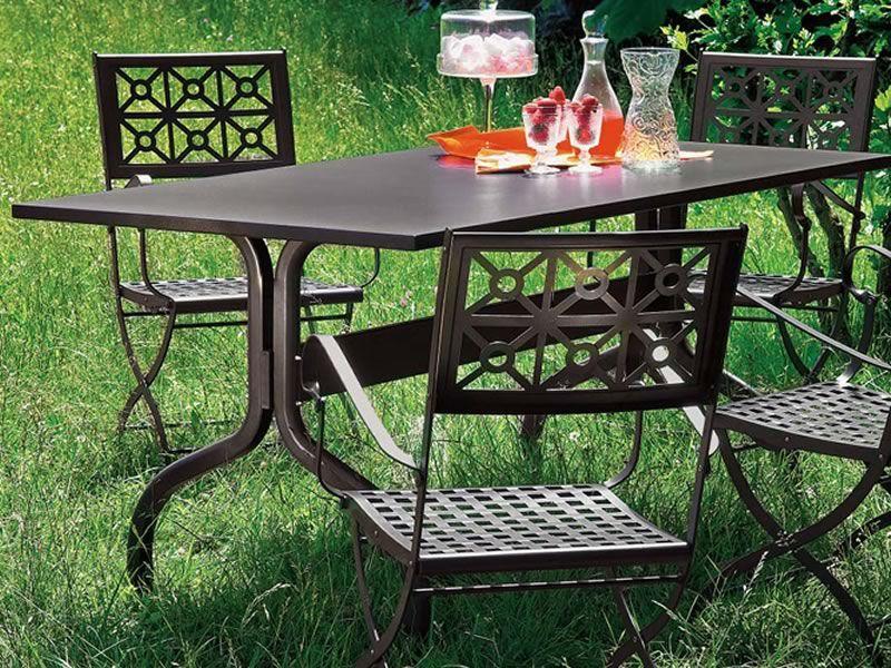 achille 2701 pour bars et restaurants table pour l 39 ext rieur en m tal 160x85 cm sediarreda. Black Bedroom Furniture Sets. Home Design Ideas