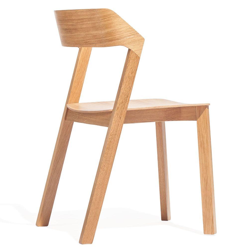Merano sedia ton in legno di rovere impilabile sediarreda - Sedia legno design ...
