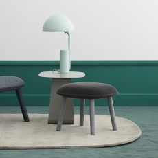 Ace-P - Normann Copenhagen pouf  -  low stool  -  footstool in wood, padded seat, different upholsteries and colors available