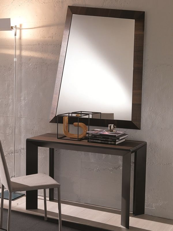 Look miroir moderne avec cadre en bois ou verre sediarreda for Miroir moderne