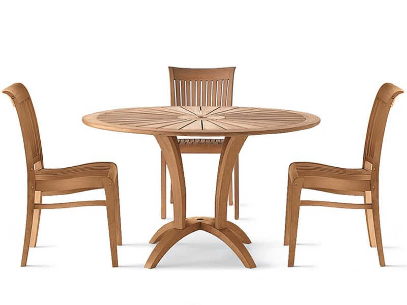 Eclypse Gartentisch Aus Robinienholz Durchmesser 125 Cm Mit