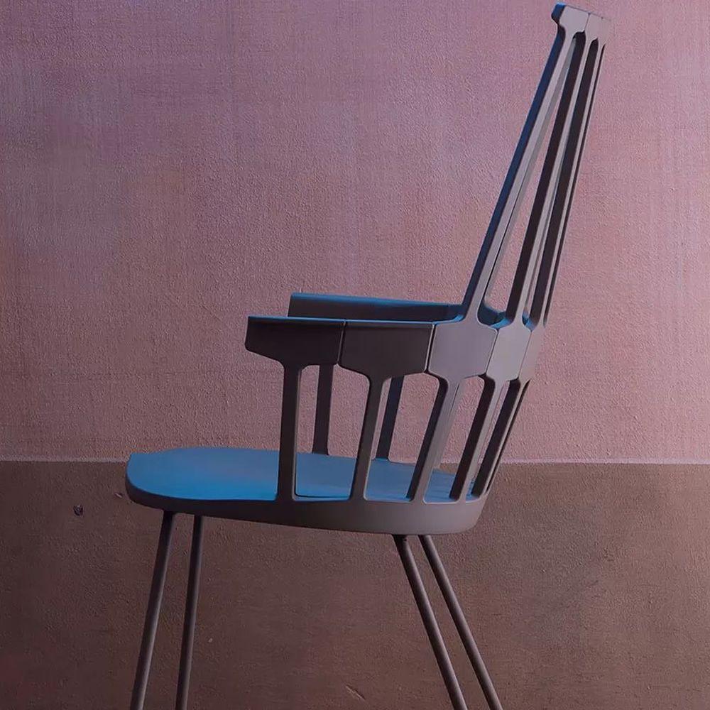 Comback 5950 sedia kartell di design struttura a slitta for Sedia design kartell