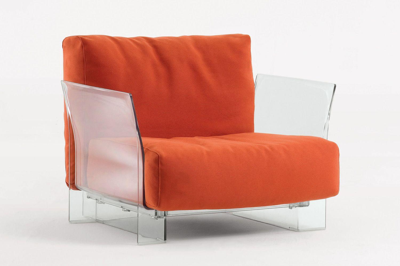 pop fauteuil design kartell structure en polycarbonate rev tement en tissus et couleurs. Black Bedroom Furniture Sets. Home Design Ideas