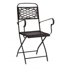 Isa P 2531 - Folding steel armchair, for garden