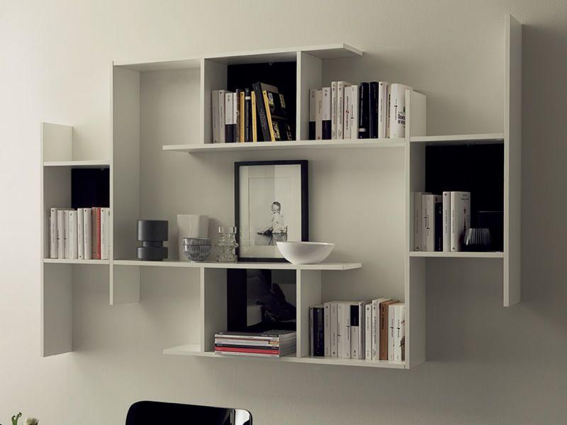 Game   Modular shelves made of white melamine
