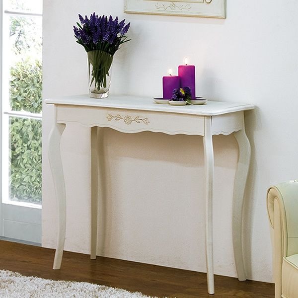 Margherita Consolle: Shabby chic consolle in wood, 90 x 38 cm, height ...