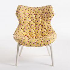 Foliage by Sottsass - Poltrona di design serie Kartell goes Sottsass, con struttura in metallo, disponibili diversi tessuti disegnati da Ettore Sottsass e Nathalie du Pasquier