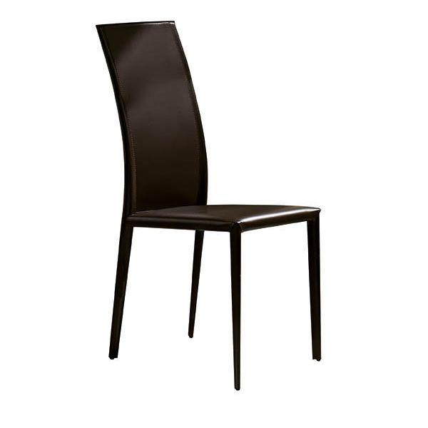 Prix chaise midj en cuir en diff rentes couleurs for Chaise dossier haut